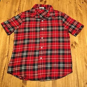 Measeor brand plaid shortsleeved shirt